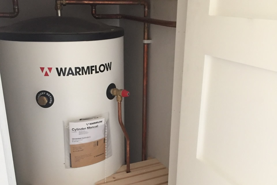 Unvented cylinders/pipework